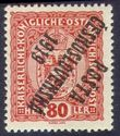 109149 / 0 - Philately / Czechoslovakia 1918-1939 / Posta Ceskoslovenska 1919 Overprint Issue  / Austrian Coat of arms small size
