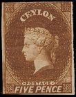182340 / 1244 - Filatelie / Asie / Jižní Asie / Cejlon