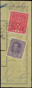 32409 / 7 - Philately / Czechoslovakia 1918-1939 / Forerunners 1918-1919