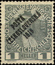 34186 / 246 - Philately / Czechoslovakia 1918-1939 / Posta Ceskoslovenska 1919 Overprint Issue