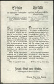 52274 / 3537 - Historical Documents, Maps / Circulars, Bulletins