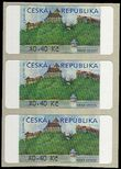 52458 / 0 - Philately / Czech Republic / Machine Stamps