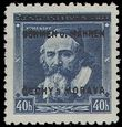 62502 / 744 - Philately / Protectorate Bohemia-Moravia / Overprint Issue