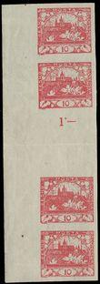 75463 / 25 - Filatelie / ČSR I. / Hradčany 1918 - nezoubkované