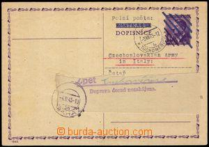 100315 - 1945 protektorátní dopisnice CDV16 použitá jako zásilka PP,