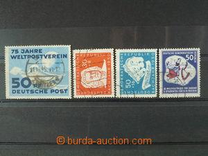 100340 - 1949-52 sestava 4ks zajímavějších známek, obsahuje Mi.242, 2
