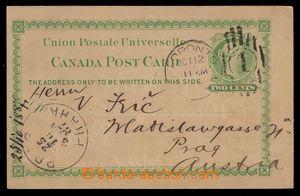100512 - 1887 Ascher č.4, dopisnice Královna Viktorie 2c, světle zele