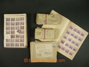 100566 - 1918-20 ČSR I. / HRADČANY  zajímavá sestava známek v 10 výbě