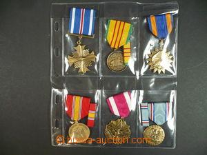 101858 - 1960 USA  sestava 10ks medailí, napodobeniny, dobrý stav