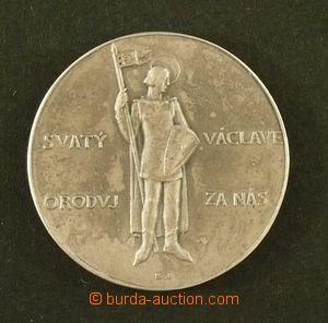 102543 - 1938 ČSR I.  stříbrná pamětní medaile Svatý Václave, oroduj.