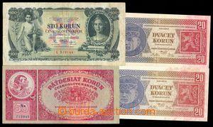 102671 - 1926-31 ČSR I.  Ba.21b 2ks, 20Kč kvalita N/0 + Ba.24b, 50Kč