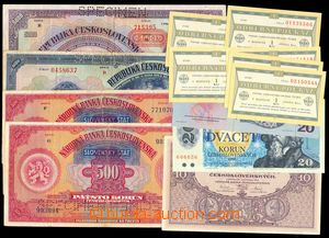 102687 - 1925-89 ČSR I., ČaM, SLOVENSKO  sestava 13ks bankovek, obsah