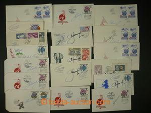 102697 - 1959-77 KOSMONAUTI  sestava 20ks čs. příležitostných obálek
