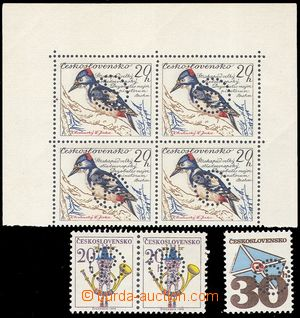 102754 - 1974 Club I., comp. 3 pcs of stamps and block of four, block