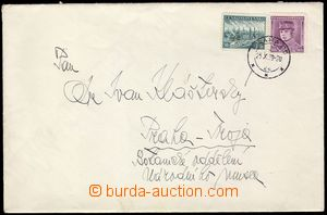 103183 - 1939 letter with parallel franking Pof.302 and 344, CDS PRAG