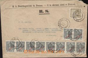 103217 - 1919 soudní dopis v místě bez frankatury DR PŘEROV/ 7.III.19