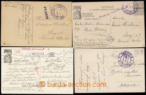 103228 - 1913-19 sestava 4ks pohlednic vyplacených hotově, 1x FRANCO,