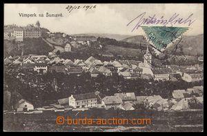 103522 - 1918 pohlednice Vimperka do Německa, vyfr. na přední straně