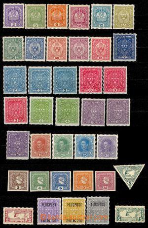 103837 - 1910-1918 sestava 75ks neupotřebených rakouských známek, teo
