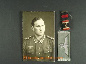 103840 - 1940 NĚMECKO  vyznamenání, stužka a foto vojáka, zajímavé