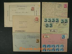 104651 - 1945 sestava 6ks celistvostí vyfr. zn. vydání Lipová ratoles