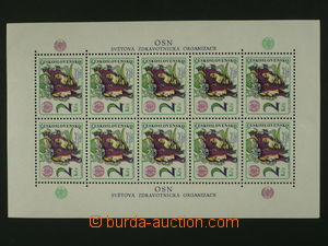 104709 - 1976 Pof.A2215DO, miniature sheet Toximania with plate varie