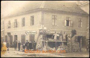 105067 - 1929 TŘEBÍČ - stavební práce, čb reálfoto, prošlá, KVP - skv