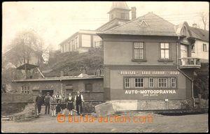 105234 - 1929 TŘEBÍČ - Svobodova kovárna na prasečáku, v pozadí hasič