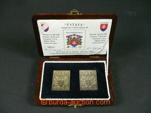 105737 - 1997 SLOVENSKO / PLAKETY  zlatá a stříbrná plaketa s motivem
