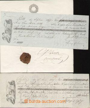 105825 - 1847 HABSBURSKÁ MONARCHIE  sestava 2ks vyplněných předtištěn