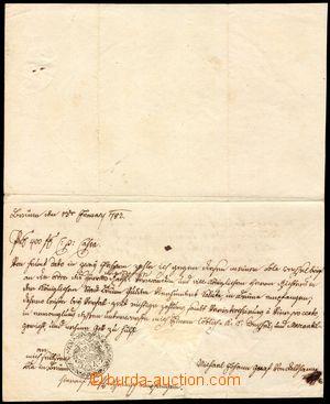 105826 - 1782 HABSBURSKÁ MONARCHIE  ručně psaná směnka z Brna na 400Z