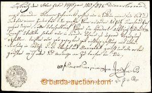 105827 - 1790 SMĚNKY/ RAKOUSKO - UHERSKO  ručně psaná směnka na 180Zl