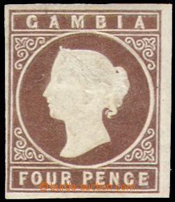 106189 - 1869 Mi.1, Viktorie 4P tmavě hnědá, kat. 700€