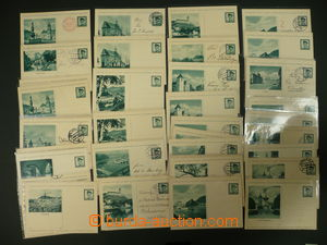 106238 - 1937-38 ČSR I., obrazové dopisnice CDV69, vše modrozelená ba