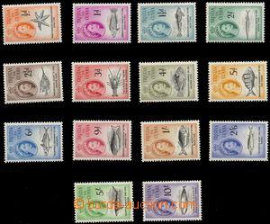 106256 - 1960 Mi.28-41, Mořští živočichové a Alžběta II., kat. 120€
