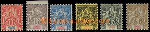 106264 - 1900 Mi.14-19, Alegorie, kat. 160€ (kat. Yv. 220€)