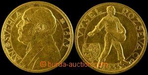 106332 - 1933 ČSR I.  Dukátová medaile, Antonín Švehla, Au, 3,49g, pr