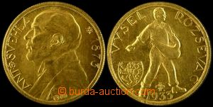 106333 - 1933 ČSR I.  Dukátová medaile, Antonín Švehla - úmrtní s kří