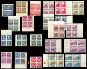 106342 - 1939 Alb.2-22, Overprint issue in blocks of four (!), smalle