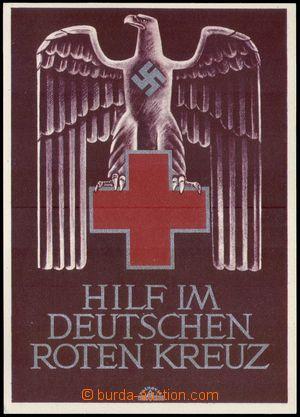 106401 - 1941 Německý Červený kříž, propagandistická pohlednice, orli