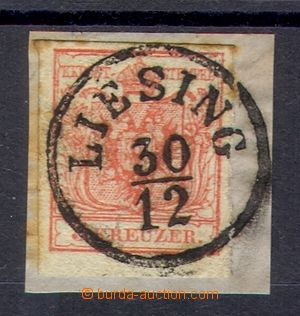 106448 - 1850 the first issue., Mi.3 3 Kreuzer red, single circle can