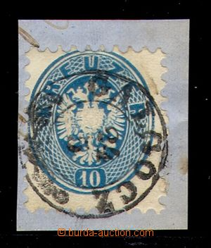 106552 - 1863 issue V., Mi.33, 10Kr blue, CDS GALGÓCZ (Hlohovec) 24/5