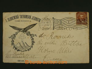106565 - 1896 USA  I. Slovak tatranská union, promotional added print