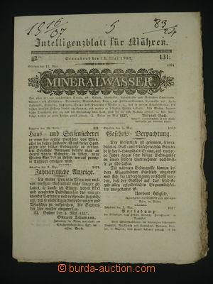 108128 - 1837 noviny Intelligenzblatt für Mähren, dobrý stav