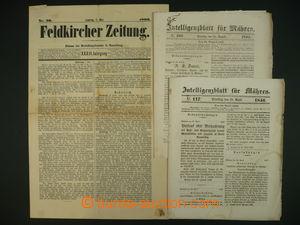 108131 - 1845-96 sestava 3ks novin, 2x Intelligenzblatt für Mähren, 1