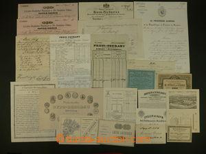 108161 - 1831-1900 sestava 20ks faktur, dopisů a reklamních lístků, p