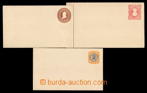 108335 - 1893 sestava 3ks celinových obálek, obsahuje:  1) obálku 3c,