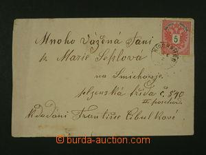 108437 - 1883 dopis vyfr. zn. Mi.46, 5Kr červená, náprstkové DR NISCH