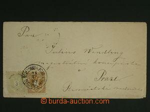 108488 - 1884 dopis vyfr. zn. 2 + 3Kr (Mi.44 + 45), DR BENEŠOV u PRAH