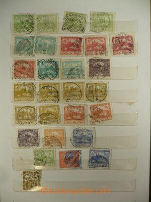 108677 - 1818-20 ČSR I. / HRADČANY  sestava známek s vybranými razítk